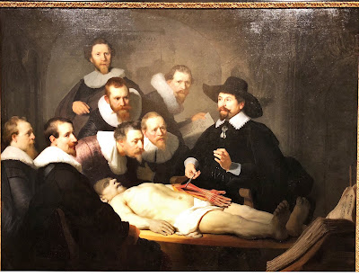 Rembrandt's The Anatomy Lesson of Dr Nicholaes Tulp (1632) in the Mauritshuis museum.