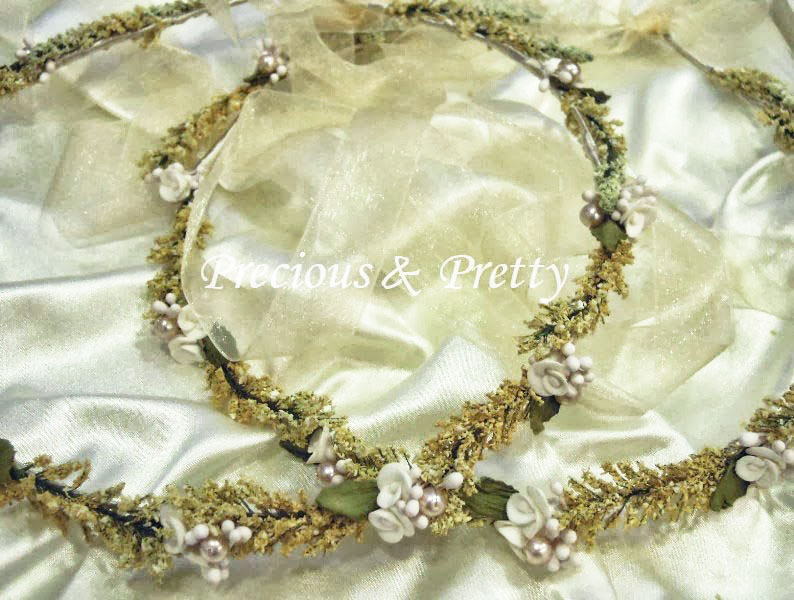 Bridal flower crowns made in Greece