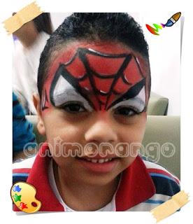 Pintura Facial face painting homem aranha spider man
