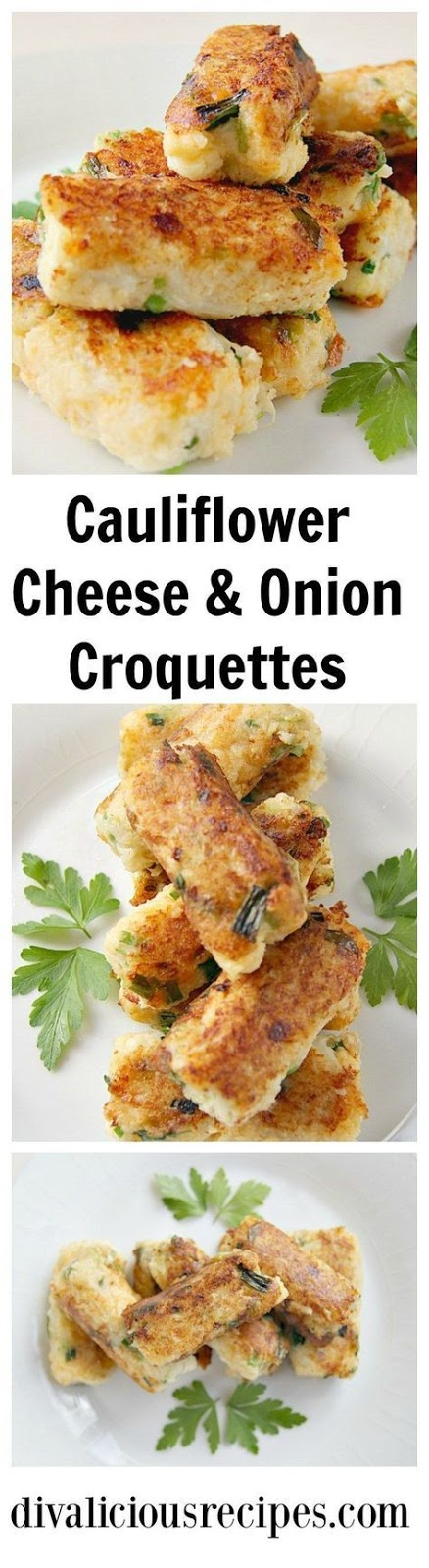 Low Carb Cauliflower Cheese & Onion Croquette