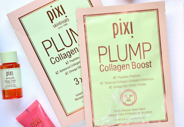Pixi Glow Glycolic and Plump Collagen Boost Sheet Masks