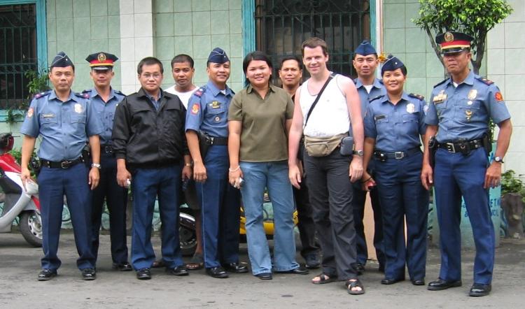 Police de Manille aux Philippines