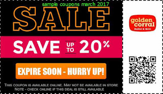 free Golden Corral coupons march 2017