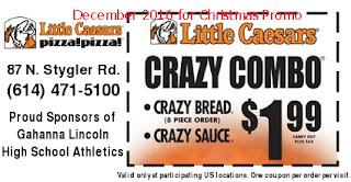 Little Caesars coupons december 2016