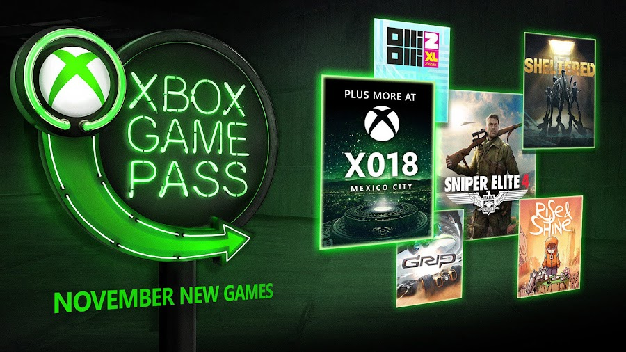 xbox game pass november 2018 sniper elite 4
