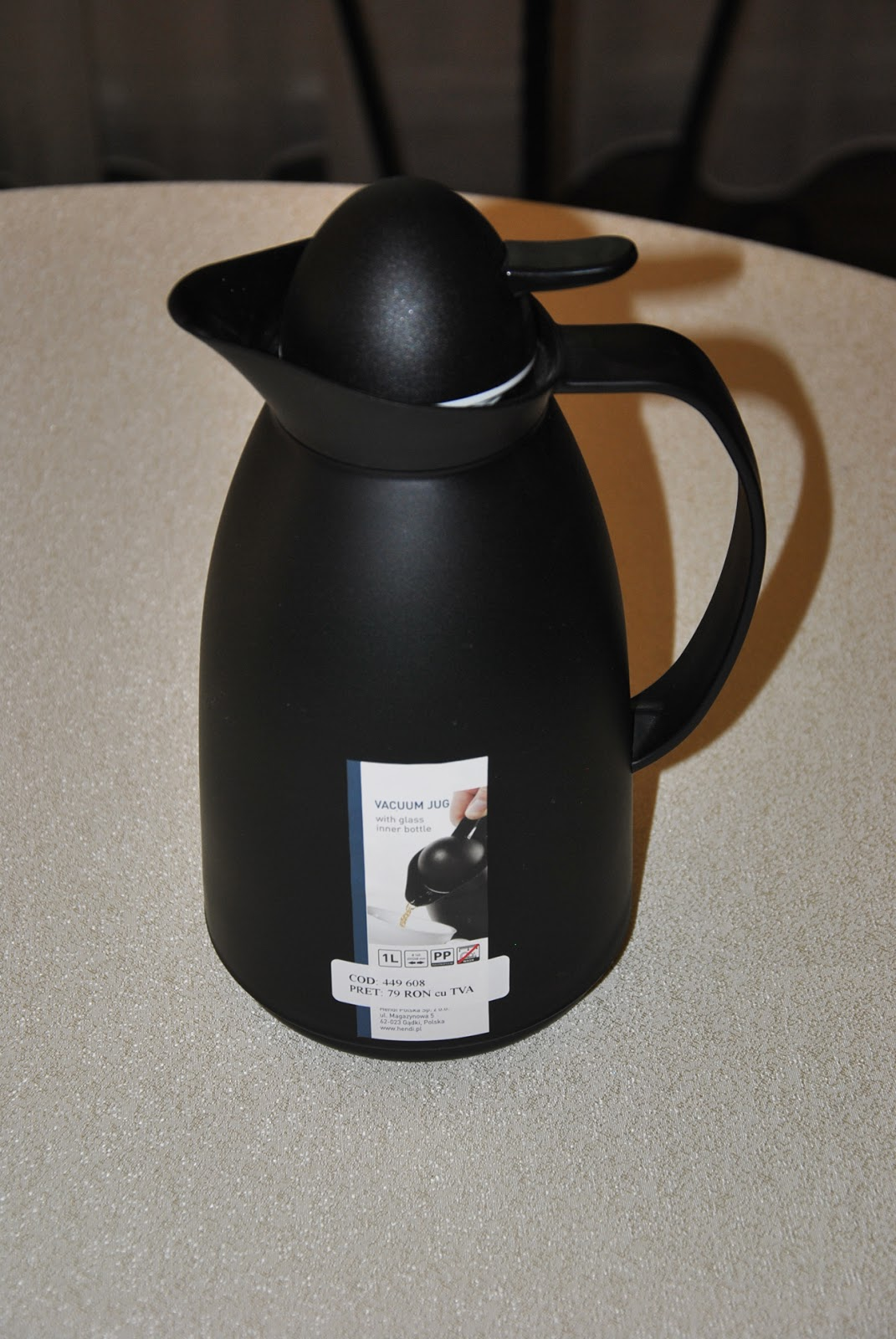 Termos Sticla, Culoare Negru, Termos Pret, Termos Cafea, Cana Termos