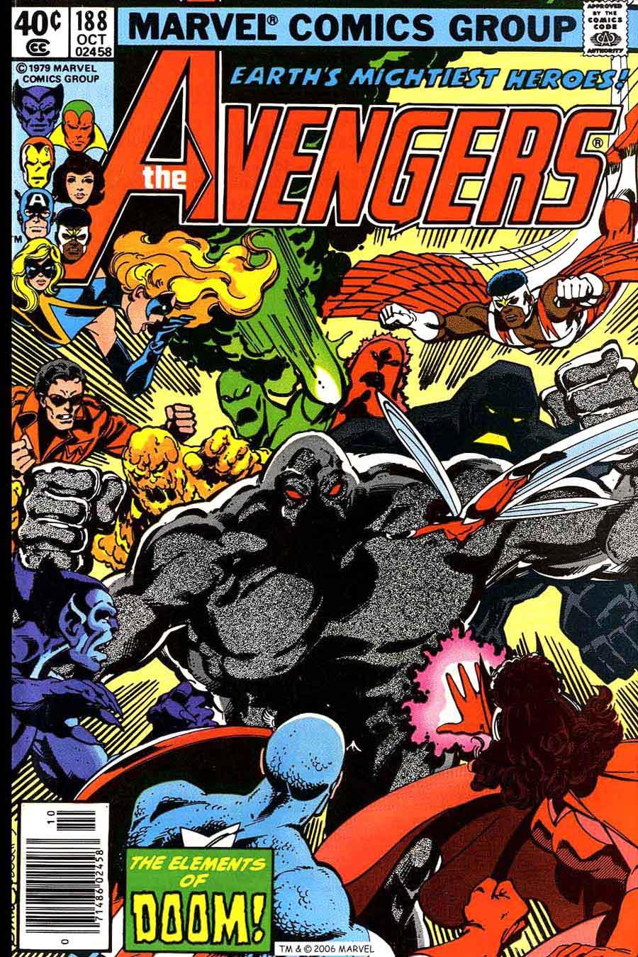 Avengers #188 marvel 1970s bronze age comic book cover art by John Byrne