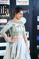 Gouri Munjal in a Tight Pista Coloured Ghagra Choli at IIFA Utsavam Awards 003.JPG