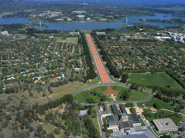Aerial View of Canberra