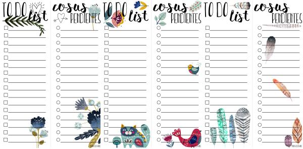 Diseños de las listas de cosas para hacer (to do lists)