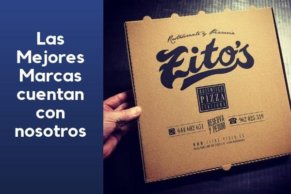 cajas de pizza kraft personalizadas