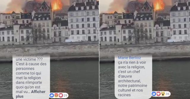 Muslims celebrate as blaze destroys Notre Dame