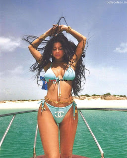 Kylie Jenner in Blue Bikini Exposing Huge  and  WOW bollycelebs.in Exclusive Pics