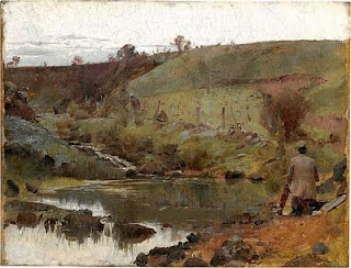 A quiet day on Darebin Creek - Tom Roberts painting