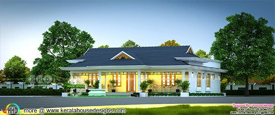 3 Bedroom Kerala traditional house design