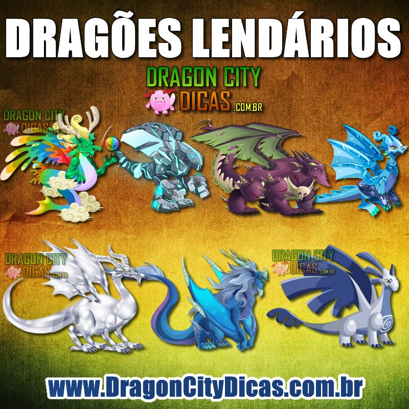 Dragões Lendários do Dragon City