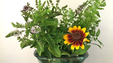 Del jardín al jarrón. Garden bouquet con aromáticas y una flor de Rudbeckia