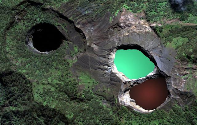Mount Kelimutu Three Lakes