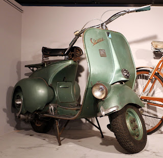 A 1949 model of the classic Vespa 125