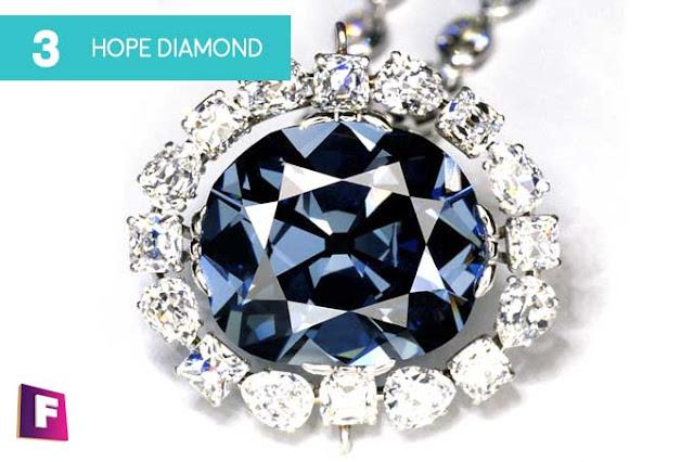 diamantes mas caros del mundo 2017 | puesto 3 hope diamond - foro de minerales
