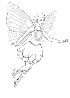ausmalbilder barbie mariposa