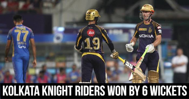 Kolkata Knight Riders won by 6 wickets