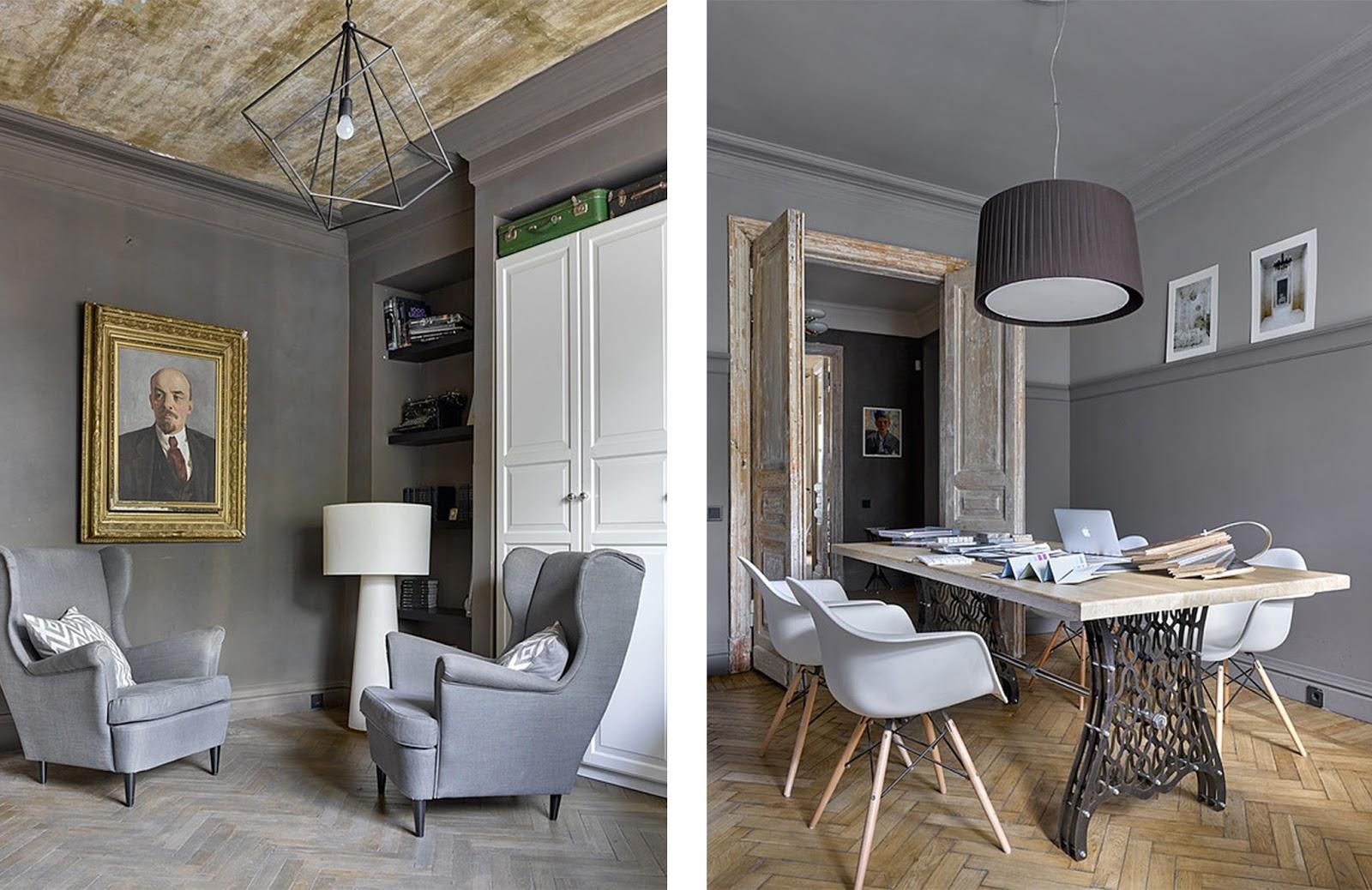 Casa ufficio con opere d 39 arte e arredi vintage by for Ufficio architetto design