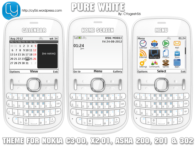 The Cleanest Themes For Nokia C3 00 Asha 200 201 302