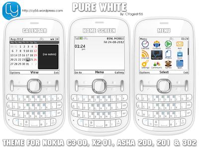The Cleanest Themes for Nokia C3-00, Asha 200, Asha 201