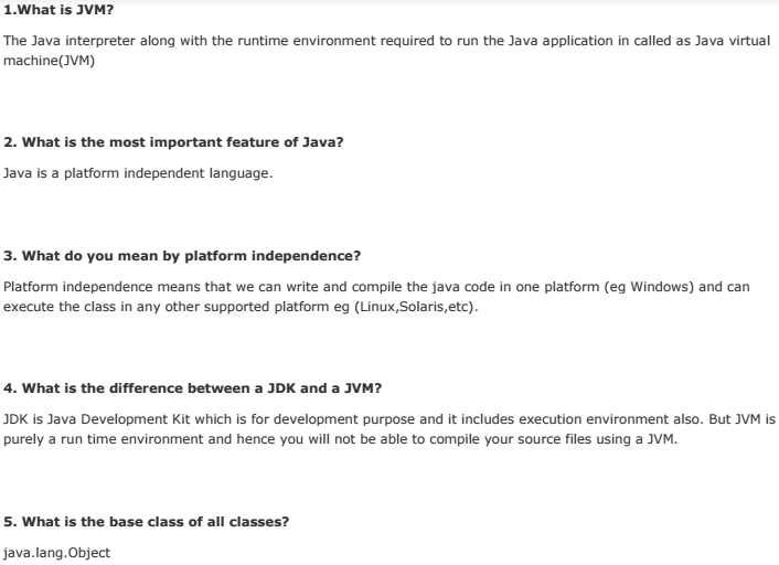 Questions freshers for pdf advanced and java answers interview