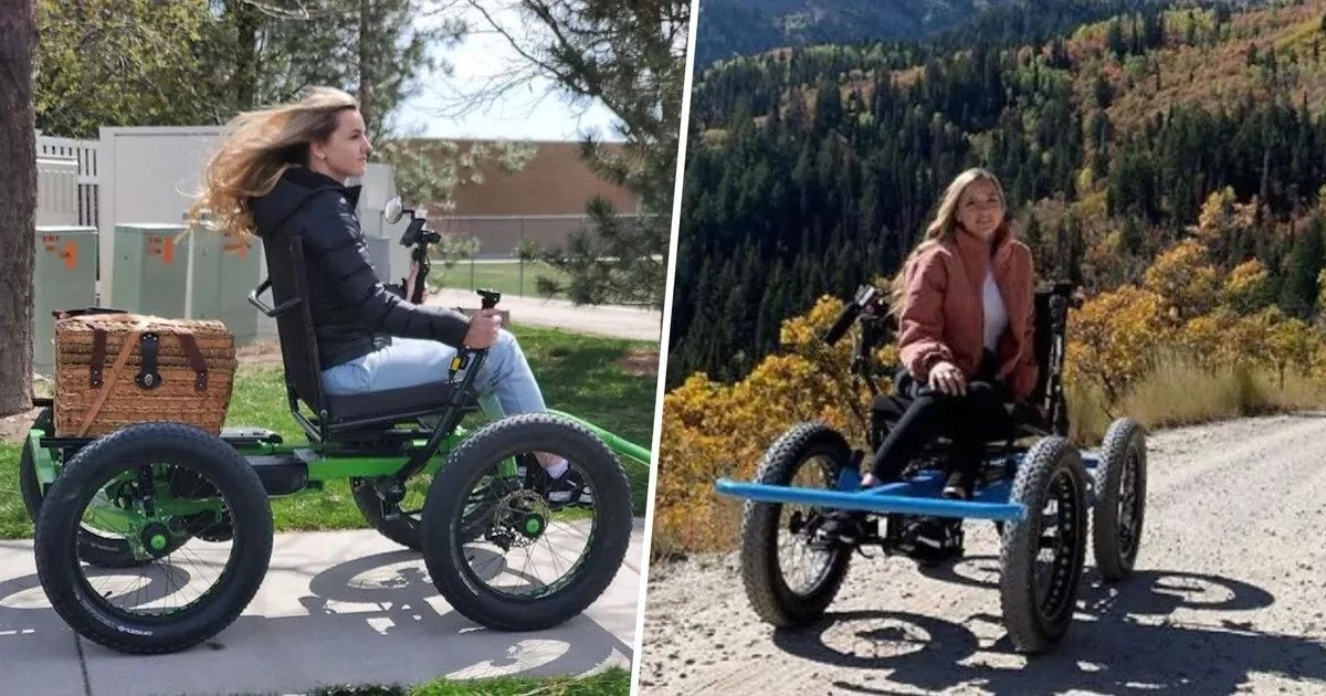 Man Builds Off-Road Wheelchair For His Wife So That They Can Explore The Great Outdoors Together