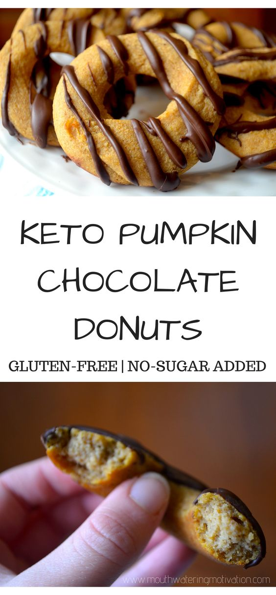 KETO CHOCOLATE PUMPKIN DONUTS