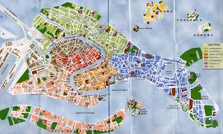 Mapa de Venecia.