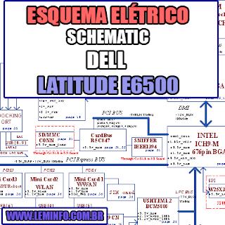 Esquema Elétrico Notebook Dell Latitude E6500 Laptop Manual de Serviço