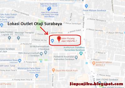 Lokasi Outlet Otaji (Oseng tuna Asap) di Surabaya, peta, map, google