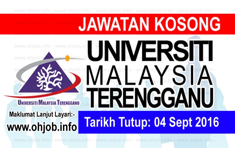 Jawatan Kerja Kosong Universiti Malaysia Terengganu (UMT) logo www.ohjob.info september 2016