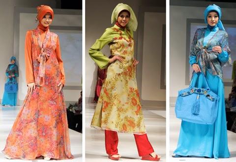 model baju gaun muslim