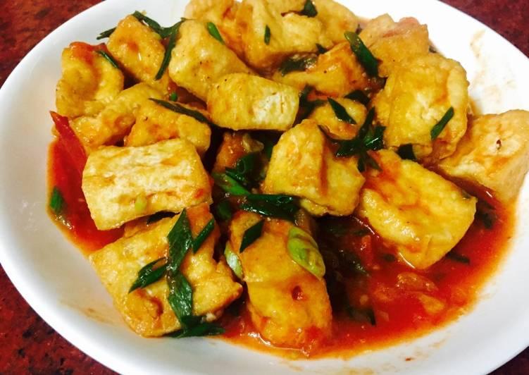 Món đậu phụ sốt cà chua - Món ăn ngon dễ làm