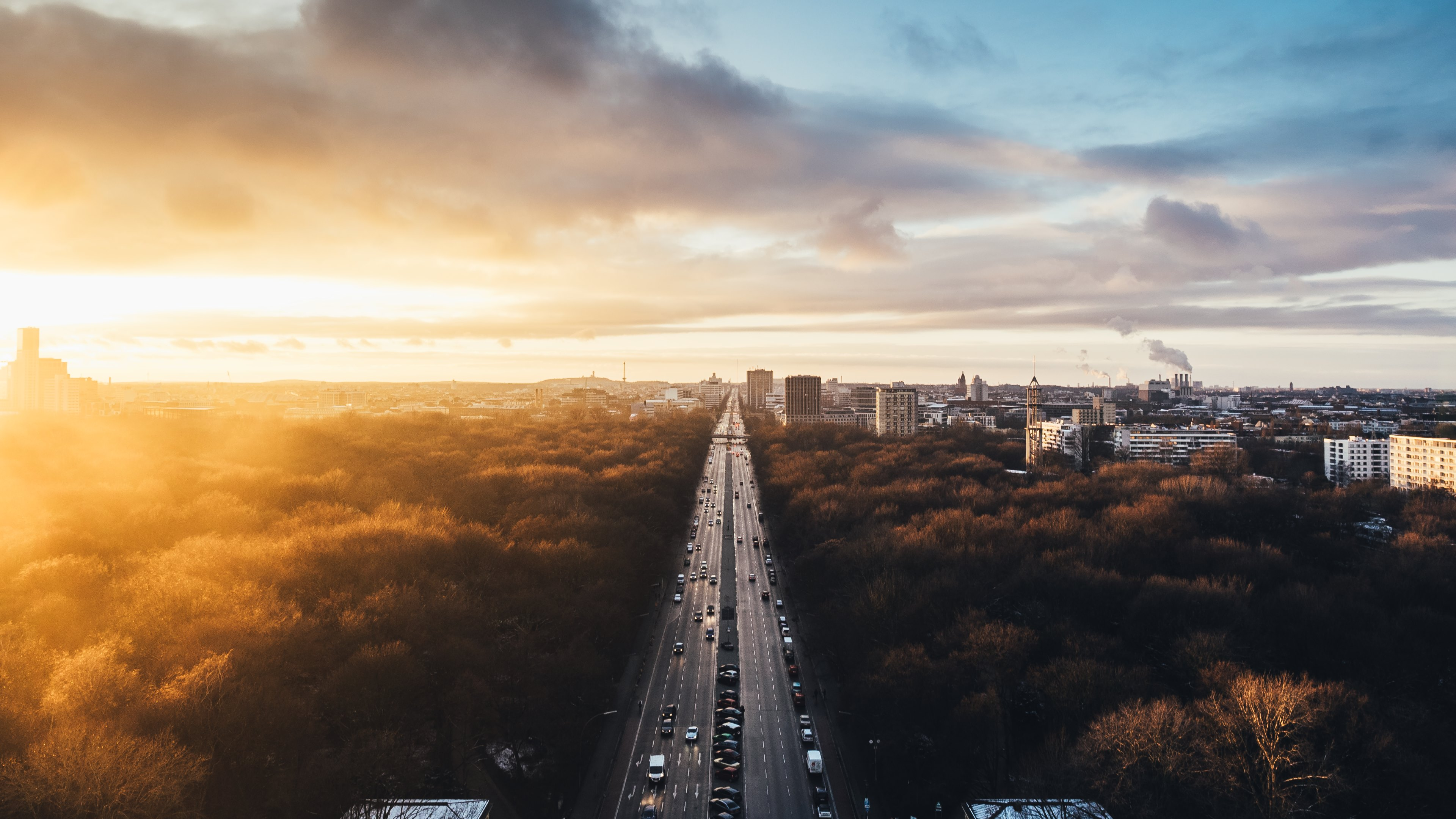 The author and more sizes are available in page — Sunset at Tiergarten