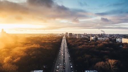Sunset at Tiergarten 4K