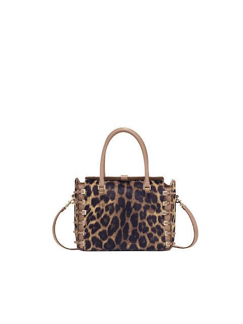 Valentino Harness Bag Fall/Winter 2012-13 Leopard Printed Pony and Leather Tote