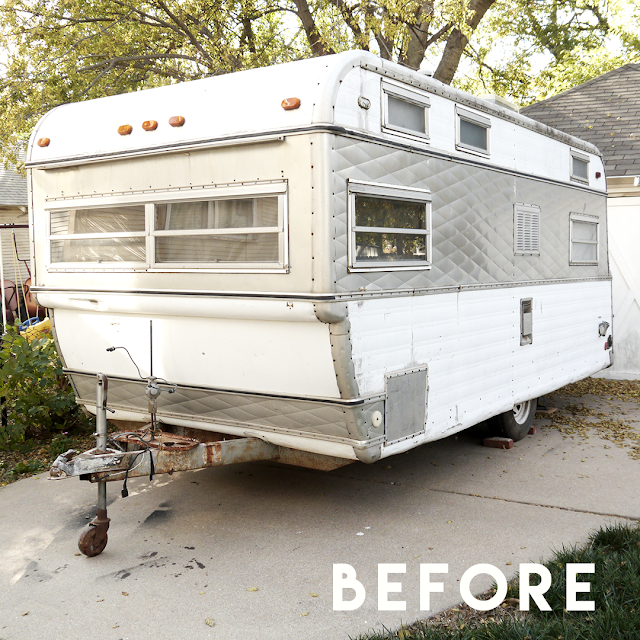Vintage Camper Photo Booth Before