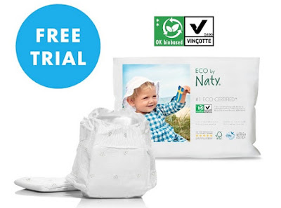 Image: free Certified ECO Nappy Samples, sent to your home free of charge