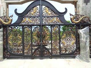 Pintu, Gerbang, Antik, Besi Tempa, Klasik