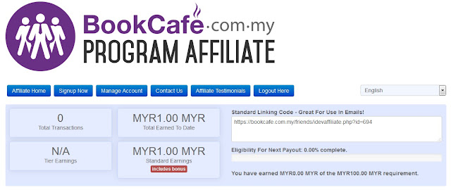 cara daftar affiliate bookcafe