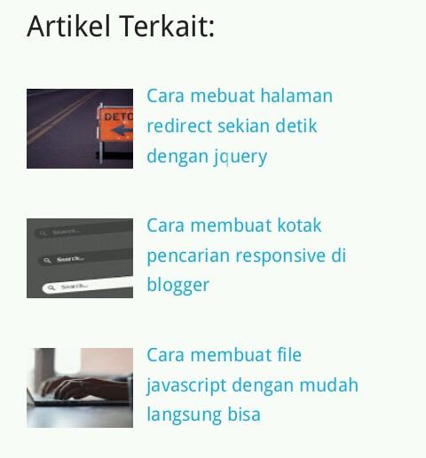Cara membuat artikel terkait di blogger related post