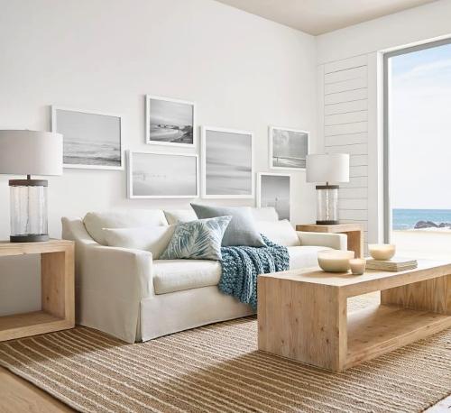 Modern Simple Coastal Living Room Design