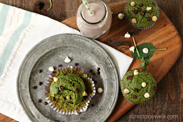 Kale and Spinach Vegan Green Muffins Recipe