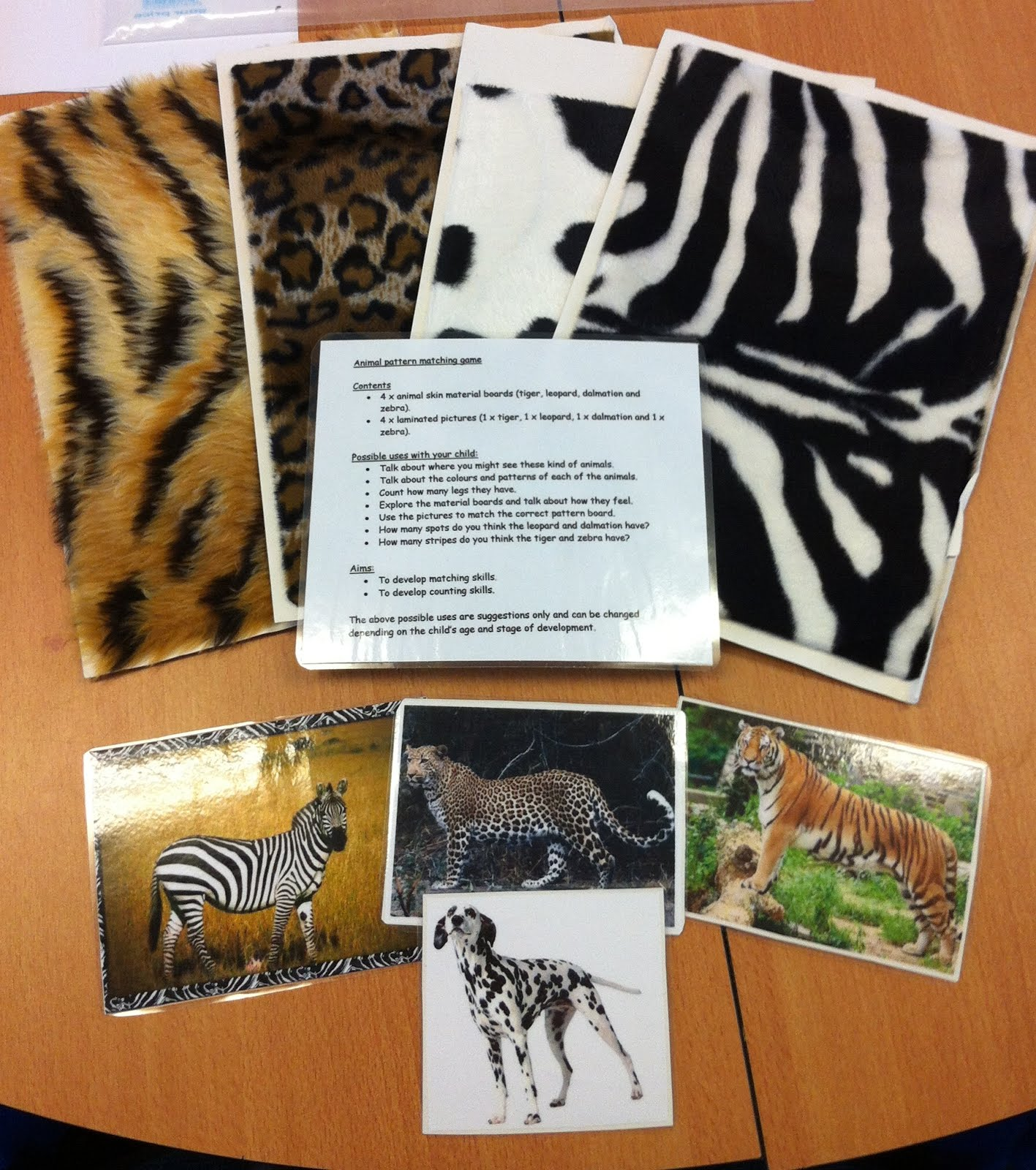 Early Language Skills Through Play Animal Pattern