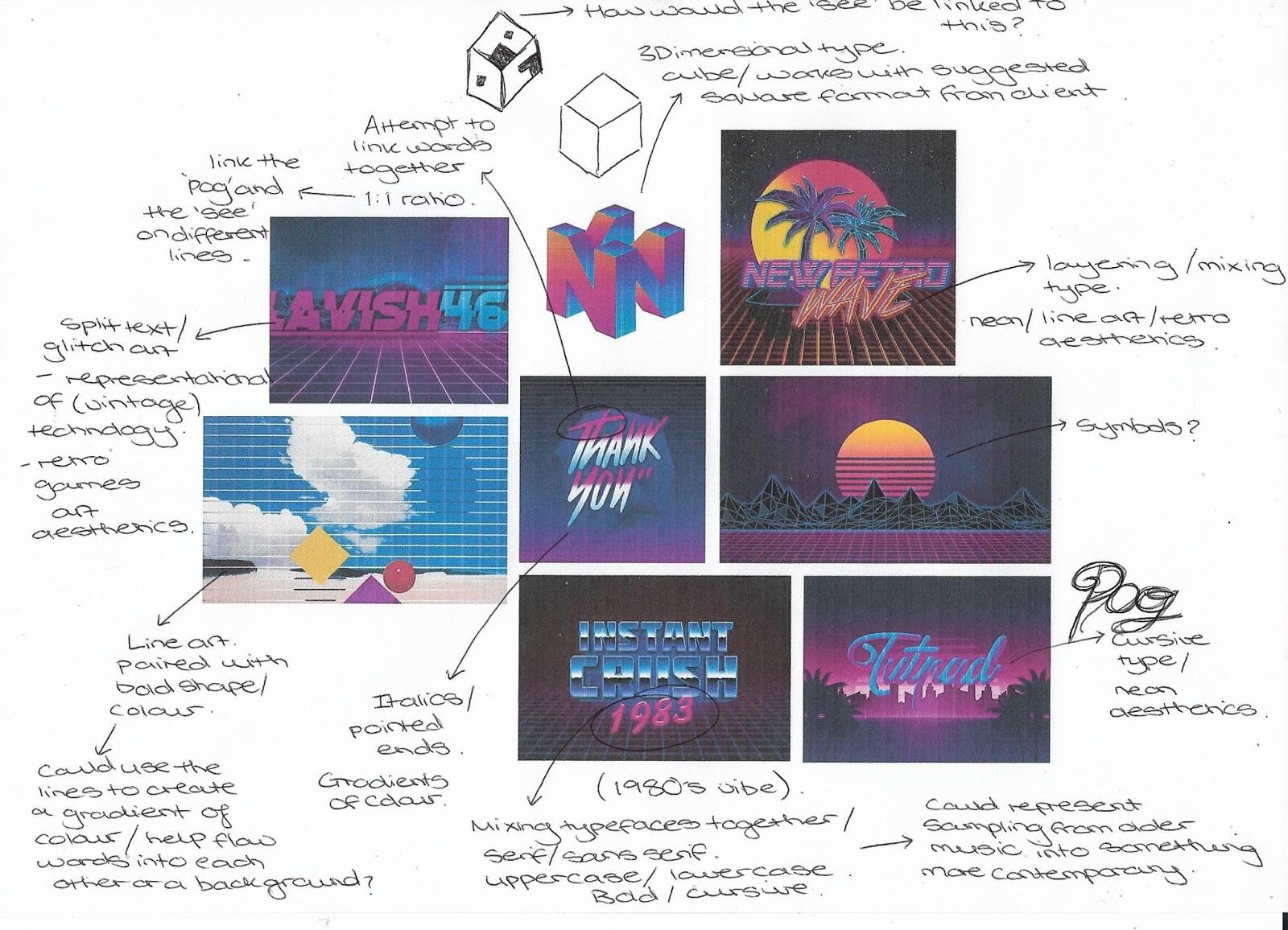 Studio Practice Ougd603 Pogsee Logo Design Vaporwave Aesthetics